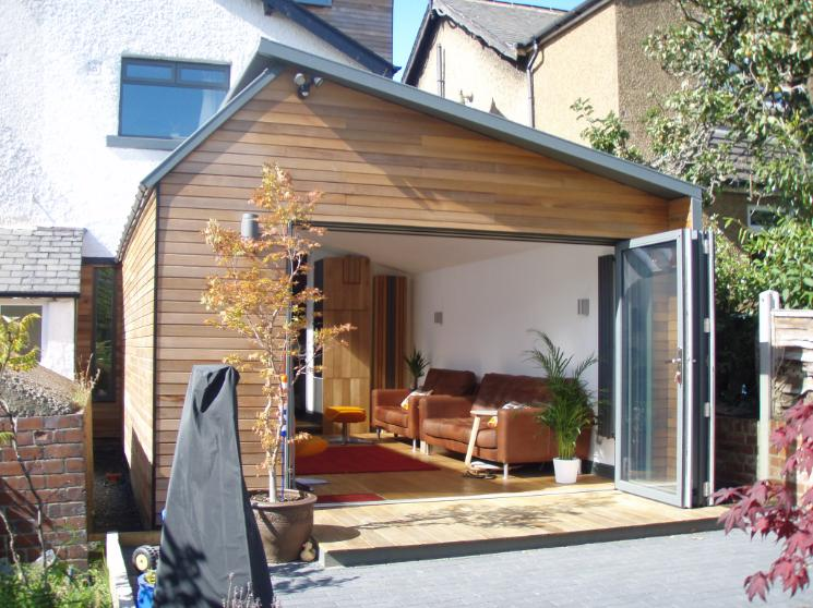 Mr newton garden room extension for Timber garden rooms